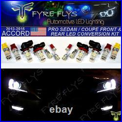 14x Super Bright 3014 Series LED Pro Front & Rear Upgrade Kit for 9th Gen Accord