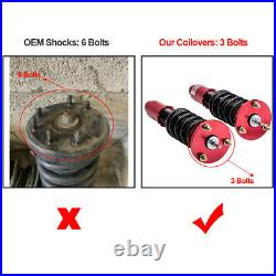 24 Ways Damper Coilover Suspension Kits For Honda Accord 2008-2012 Red Shocks