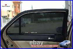 2pcs Rear Curtain Blind Sun Shade Assembly Set Fit For Honda Accord Gen7