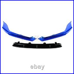 3PC Front Bumper Spoiler Blue Surround Molding Cover Trim For Honda Accord 18-20