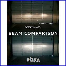 4X6 Crystal Clear Glass Projector Headlight 6k LED HID Light Bulb Headlamp Set