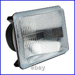 4X6 Stock Glass Lens / Metal Headlight 6000k 6k LED HID Light Bulb Headlamp Pair