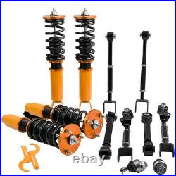 4x Coilovers Suspension Strut Kits + 6 x Rear Camber Arms For Honda Accord 08-12
