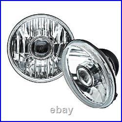 5-3/4 Projector Crystal Clear Headlight 6k LED HID H4 Light Bulb Headlamp Pair