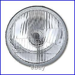 5-3/4 Stock Glass Metal Headlight 18/24w 6k LED H4 Lamp Light Bulb Headlamp Set