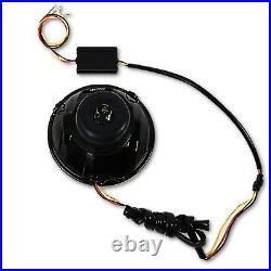 5-3/4 Switchback White DRL Angel Eye Halo / Amber Turn Signal LED Headlight Set