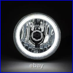 5-3/4 Switchback White DRL Halo Amber Turn Signal Angel Eye LED Headlight EACH