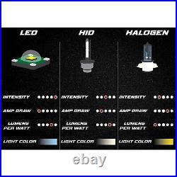 7X6 Stock Style Glass Lens Metal Headlight 6000k LED H4 Light Bulb Headlamp Pair