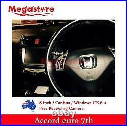8 HONDA ACCORD/EURO 03-07 7TH GEN Car DVD GPS Stereo Player Head Unit