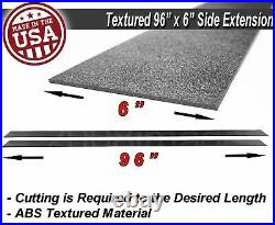 96x6 Gen 1 Black Side Skirts Extension Flat Bottom Line Lip For Honda Acura