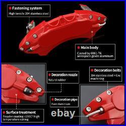 AOOA Racing Red Aluminum Caliper Cover for 18-21 Honda Accord 10th Gen 1.5T/2.0L