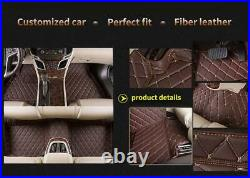 Car Floor Mats fit for Honda Accord 9th Gen 2014-2017 PU Leather Floor MAT Red