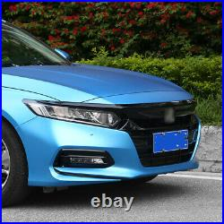 Car Sport Style Front Grille Black For 2018-2019 10th Gen Honda Accord Sedan JDM