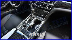 Carbon Fiber Interior Gear Shift Box Panel Cover Trim For Honda Accord 2018-2020