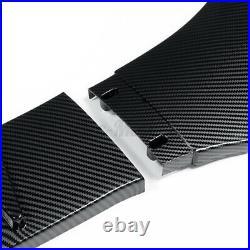 Carbon Look Front Bumper Lip Splitter For Honda Civic 10th Gen Sedan Coupe 16-19