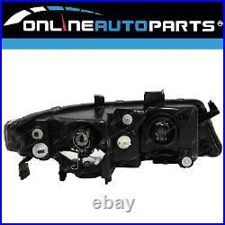 Clear/Black HeadLights Pair LH+RH for Honda Accord Euro CL 7th Gen 20052008