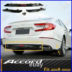 FOR 2018-2021 HONDA Accord Rear Bumper Lower Guard Diffuser LIP Trim Wing Kits