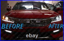 FULL Front HID LED Upgrade Kit For 16 Honda Accord 9th Gen