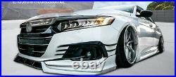 Fit For 2021 Honda Accord White Pearl Front Bumper Lip Splitter Kit Trim 3PCS