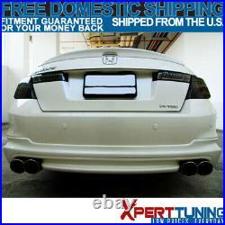 Fits 08-12 Honda Accord Trunk Spoiler Wing Painted Nighthawk Black Pearl #B92P