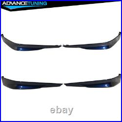 Fits 13-15 Accord HFP 2PC Front Bumper Lip Painted #B588P Obsidian Blue Pearl