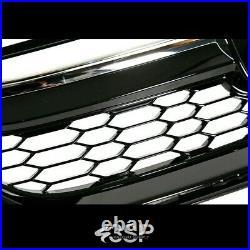 Fits 2016 2017 For Honda Accord Sedan 9th Gen Front Grill Honeycomb Black Chrome