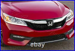 For 16-17 Honda Accord Sedan Gen 9th Sport Style Chrome Front Hood Grille Grill