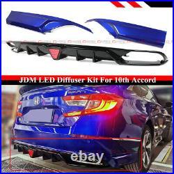 For 18-2020 Accord Led Rear Bumper Diffuser + Still Night Blue Corner Apron Spat