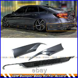 For 18-2020 Accord Modern Steel Metallic Rear Bumper Diffuser+corner Apron Spat