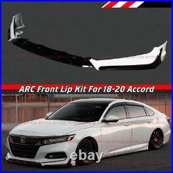 For 18-2020 Honda Accord ACR Painted White Pearl Front Bumper Lip Splitter Kit