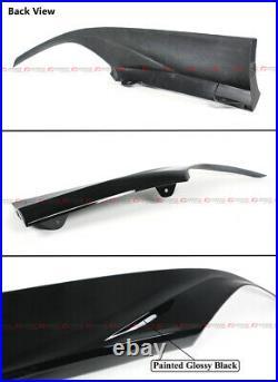 For 18-2020 Honda Accord Jdm Gloss Blk Rear Bumper Diffuser + Corner Apron Spat