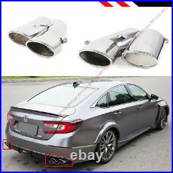 For 18-2020 Honda Accord Sport Touring Akasaka Quad Tip Muffler Exhaust Finisher