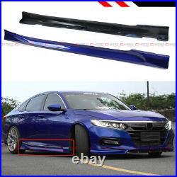 For 18-2020 Honda Accord Still Night Pearl Blue Add-on JDM Side Skirt Extensions