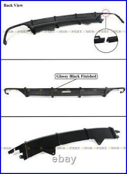 For 18-2021 Honda Accord Akasaka Gloss Black Bumper Diffuser + Trunk LID Spoiler