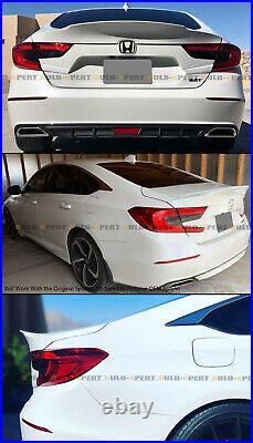 For 18-2021 Honda Accord Painted Platinum White Pearl MCX Duckbill Trunk Spoiler