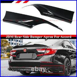 For 18-2021 Honda Accord Yofer Gloss Black Rear Bumper Corner Apron Spat Valance