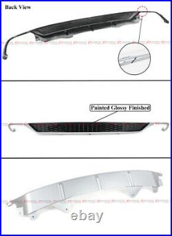 For 18-20 Accord Lunar Silver Metallic Rear Bumper Diffuser + Corner Apron Spats