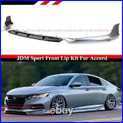 For 18-20 Accord Painted Lunar Silver Metallic YF Front Bumper Lip Splitter Kit