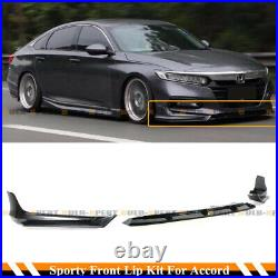 For 18-20 Accord Painted Modern Steel Metallic YF Front Bumper Lip Splitter Kit