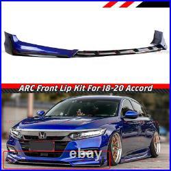 For 18-20 Honda Accord ACR Still Night Pearl Blue Front Bumper Lip Splitter Kit