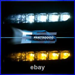 For 18-20 Honda Accord Bumper Clear LED Fog Lights + Turn Signal Harness Switch