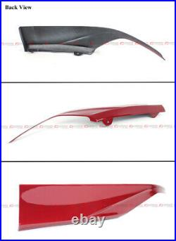 For 18-20 Honda Accord San Marino Red Rear Bumper Diffuser + Corner Apron Spats