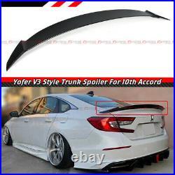 For 18-21 10th Gen Honda Accord Yofer Painted Glossy Black Trunk LID Spoiler V3