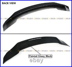 For 18-21 Accord Black Pearl Rear Bumper Led Diffuser Kit+duckbill Trunk Spoiler