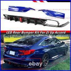 For 18-22 Accord Yofer V2 Led Rear Diffuser+ Still Night Pearl Corner Apron Spat
