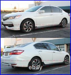 For 2013-17 9th Gen Honda Accord 4dr Sedan Jdm Matt Black Side Skirt Extension