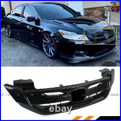 For 2013-2015 9th Gen Honda Accord 4 Door Black Jdm Front Bumper Grille Grill