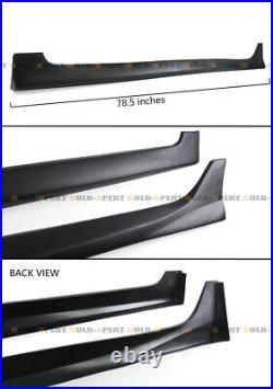 For 2013-2017 9th Gen Honda Accord 4dr Sedan Jdm Matt Black Side Skirt Extension