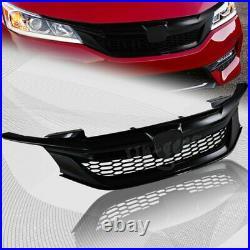 For 2016-2017 Honda Accord Sedan Gen 9Th Sport Gloss Black Front Grille Grill