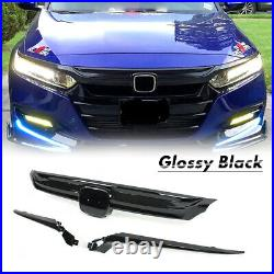 For 2018-2019 10th Gen Honda Accord Sedan JDM Sport Style Grille Glossy